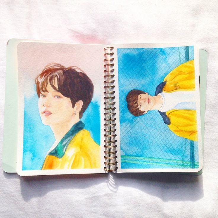 Bts Jeon Jungkook Euphoria Watercolour Zeichnungen Malen