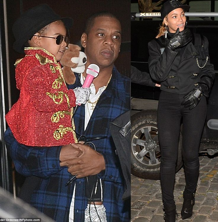 How Cute is Blue Ivy in Michael Jackson's Halloween Costume! Beyonce in Janet Jackson 'Rhythm Nation' Halloween Costume
