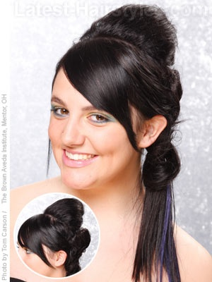 Art deco side ponytail for long hair | You fancy, huh ...