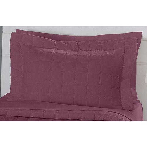 Porta Travesseiro Matelado com Aba Americana Malva 200 Fios - Naturalle Fashion