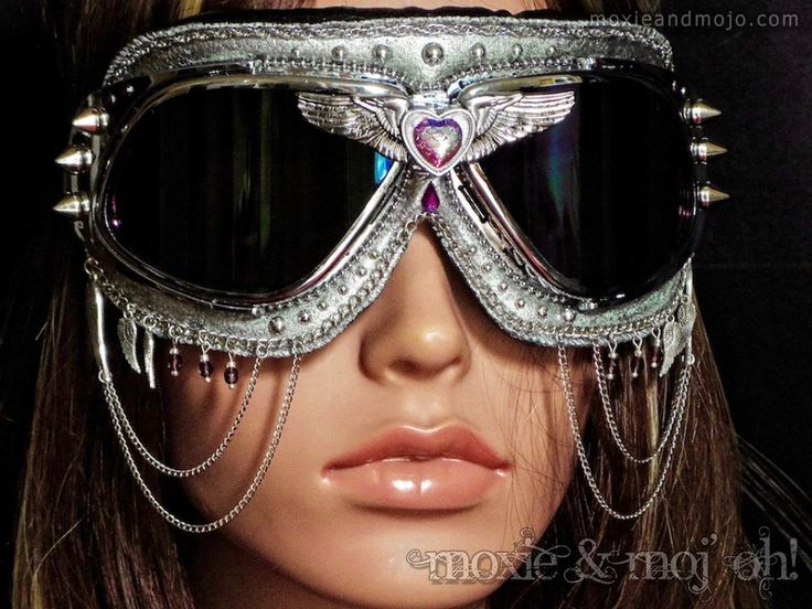 Goggles: Unchained Melody ~ Anti-Dust Goggles that work great for Burning Man! by MoxieandMojoFashion on Etsy