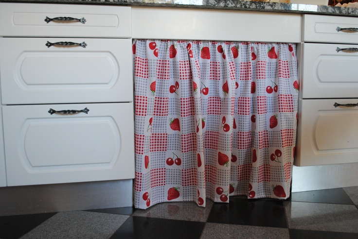Draperies in the kitchen