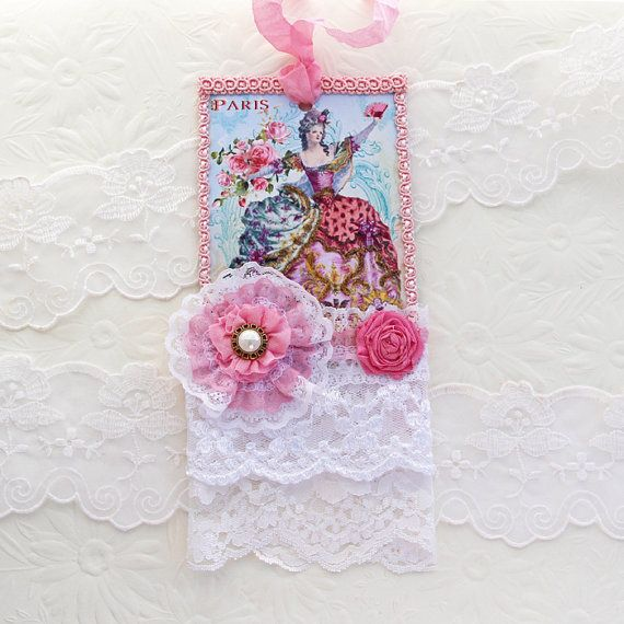 Tags Marie Antoinette Lace Vintage Shabby by EnchantedQuilling