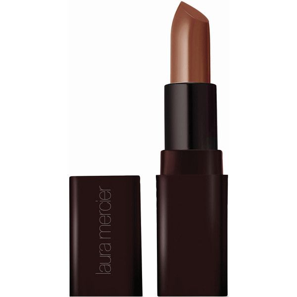 Laura Mercier Creme Smooth Lip Colour in Cappuccino ($30) ❤ liked on Polyvore featuring beauty products, makeup, lip makeup, lipstick, beauty, laura mercier and laura mercier lipstick