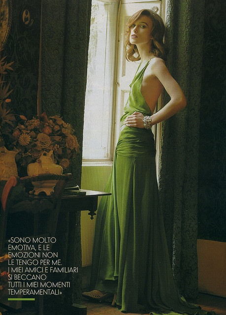 In love with Keira knightlys green dress from atonement... Gorgeous how it flows...