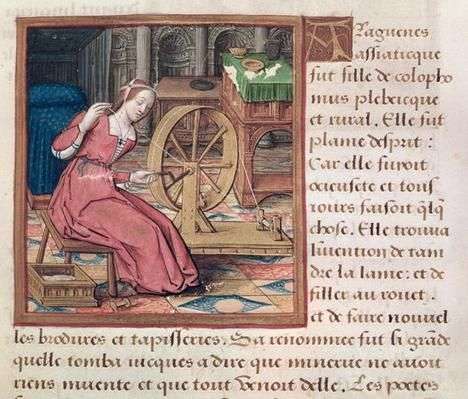 Ms 17 Arachne, from 'Vie des Femmes Celebres', c.1505 | Social Studies, The Arts | Image | PBS LearningMedia