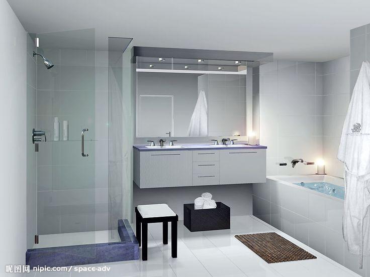 明亮简约的浴室