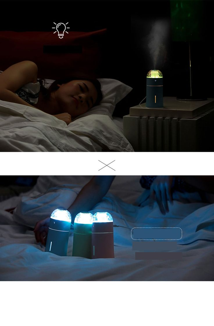 USB Mini Humidifier with Colorful Projector Lamp