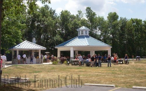 The Pavilion at the Buffalo Launch Club provides a fun and spacious venue for a family party, casual rehearsal dinner, or a summer birthday party!