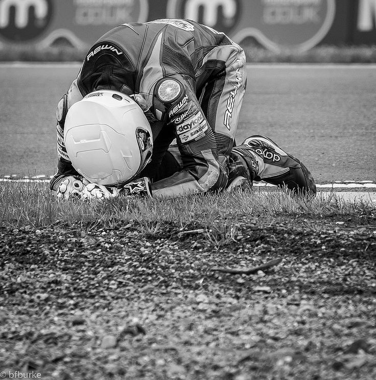 A moment of realisation, a moment of pain, a moment of disappointment.  That feeling when you realise that you have crashed your motorbike, your race is over.