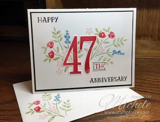 Happy Anniversary by Michele Force. www.stampforce.com