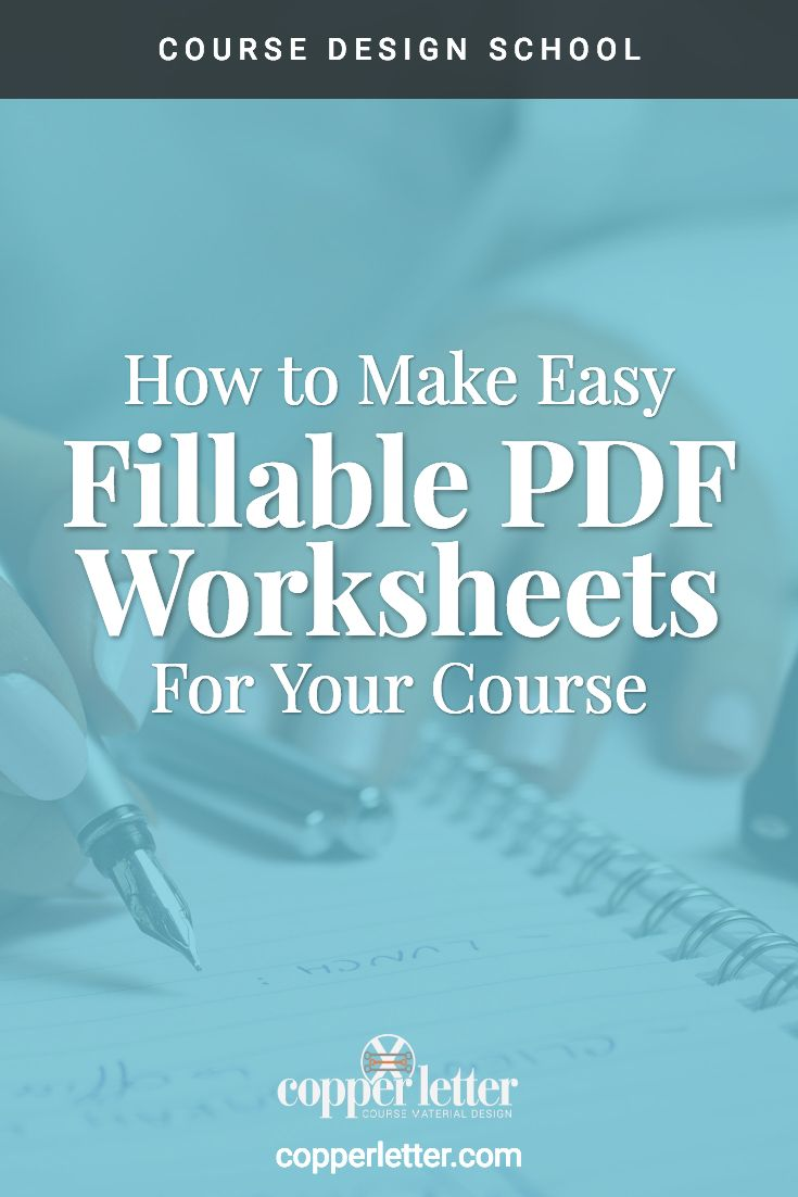 Having pdf worksheets makes your course more valuable to your students. Learn how to create your own with this tutorial.