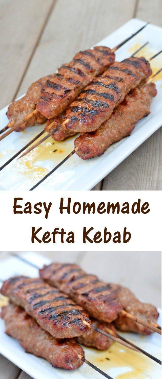 Easy to make kefta kebabs recipe for great kid friendly Middle Eastern…