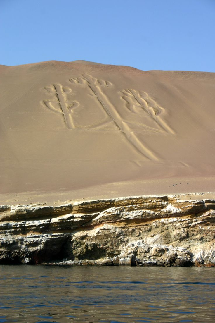 Nazca lines known as the Candelabra ~ Paracas, Peru