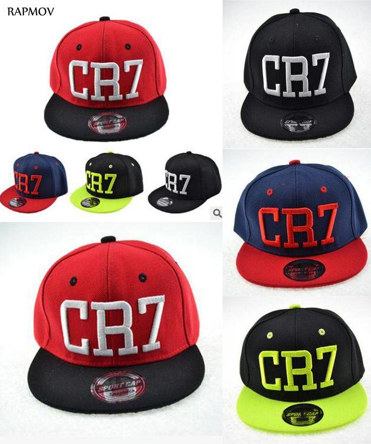 [Visit to Buy] Fashion Kids snapback caps Cristiano Ronaldo CR7 Black Children Baseball Caps hip hop Sports Snap backs Football hat boy girls  #Advertisement