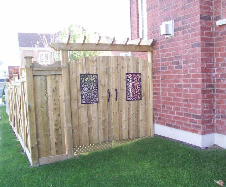 double backyard gate