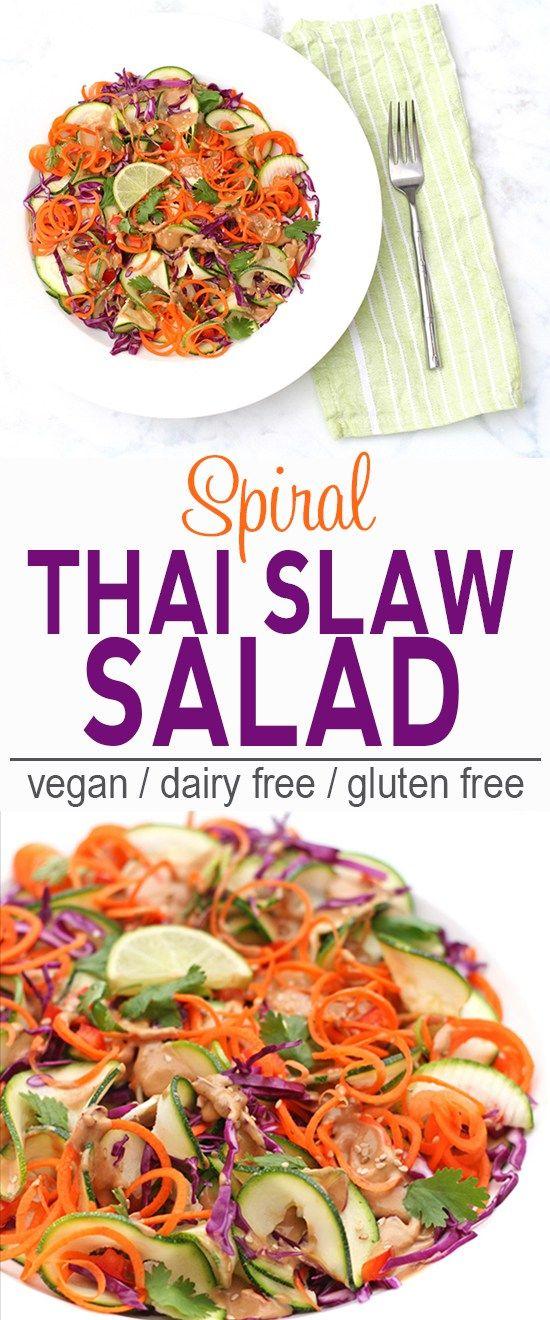 Spiral Thai Slaw Salad (gluten & soy free)
