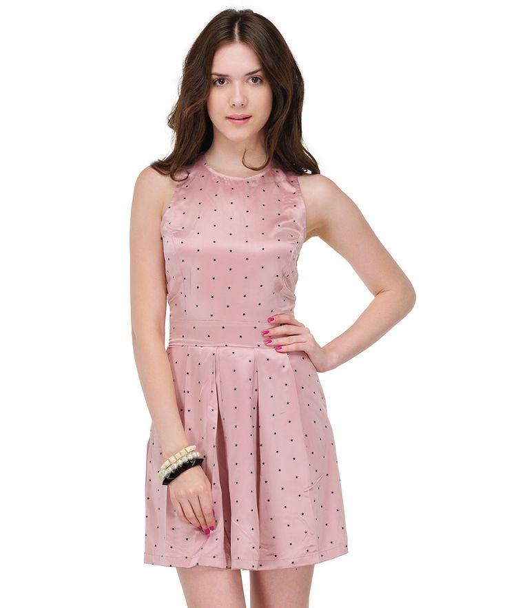 Buy Skye Printed Skater Dress - Pink • shop smartly