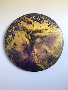 Abstract Painting Round.   Aladdin  | eBay