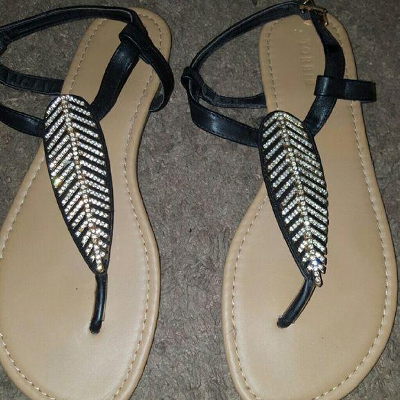 Bling Sandals Black Blinged Sandals torrid Shoes Sandals