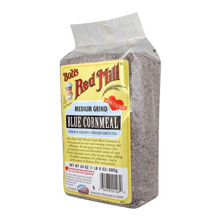 Blue Cornmeal - try using this natural cornmeal in some of your recipes like blue corn tortilla chips. Have some salsa ready! #bluecorn
