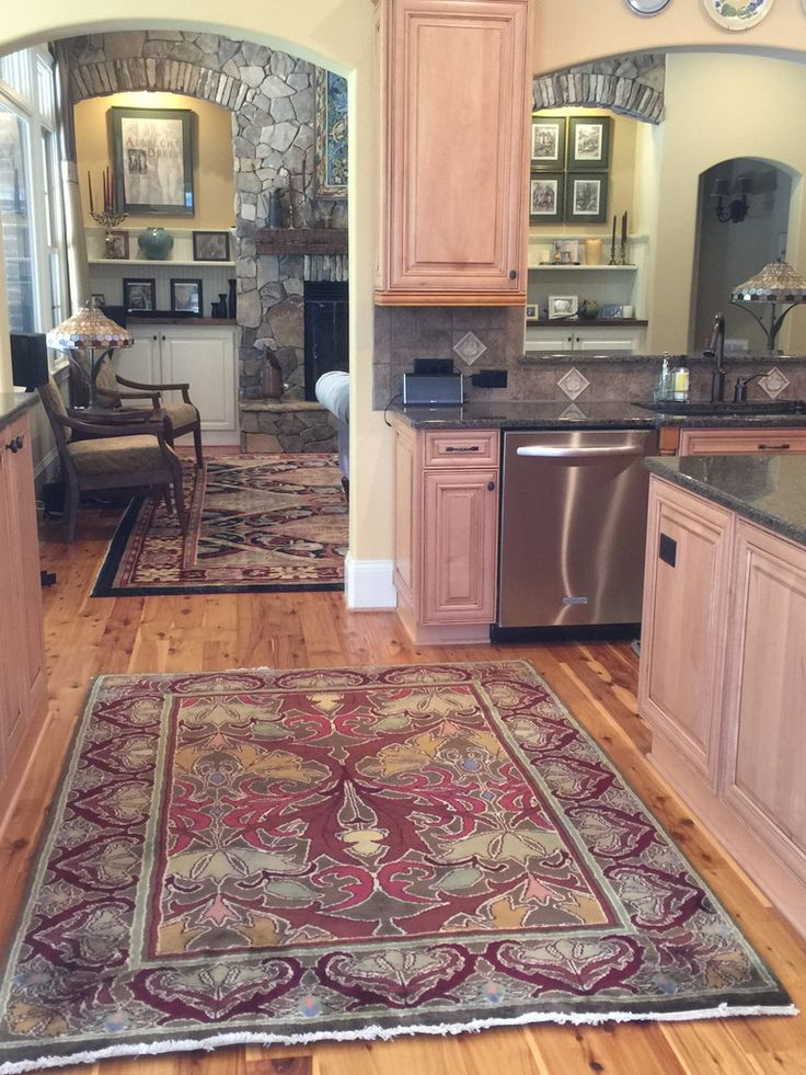 Red Kitchen Rug ~ Tulip & Lily In Fall Foliage Colors A Rich Cool Kitchen Rug Inspiration