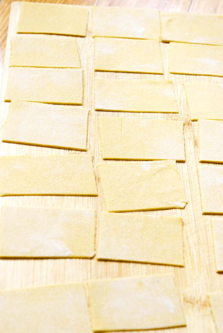 Pasta made with Garbanzo bean flour and eggs. I have doubled or tripled this recipe and used a mixture of egg and pureed spinach for green pasta too -- very delicious!