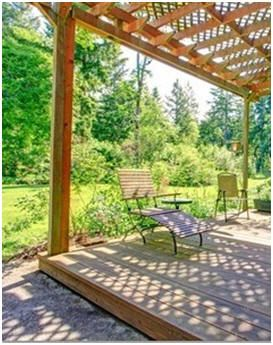 Add some shade and a touch of elegance to your backyard for Build your own pergola