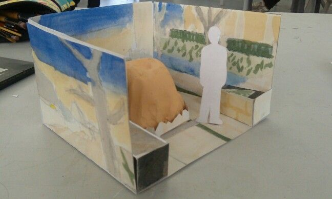 """""""Reclaimed Earth"""" maquette, left view."""