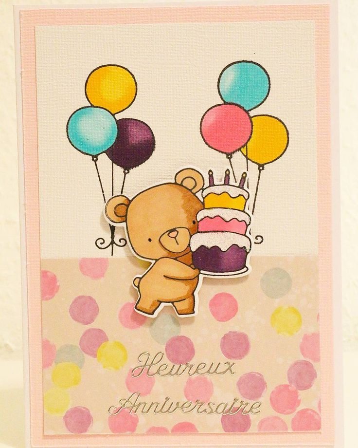 "12 mentions J'aime, 1 commentaires - Tatiana C. Geneva (@clerc_de_lune) sur Instagram : ""#clercdelune #cartescreatives #cards #bear #cake #birthday #balloon #joyeuxanniversaire"""