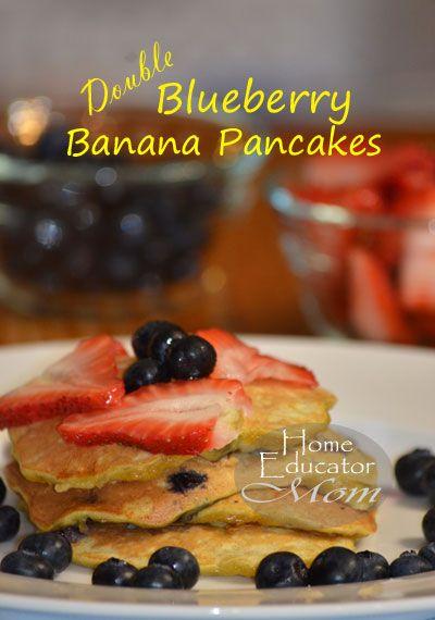 Blueberry banana pancakes, Banana pancakes and Pancakes on Pinterest