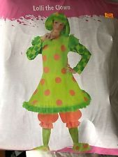 Lolli The Clown Umpa Lumpa Funny Circus Clown Womens Halloween Party Costume O/S