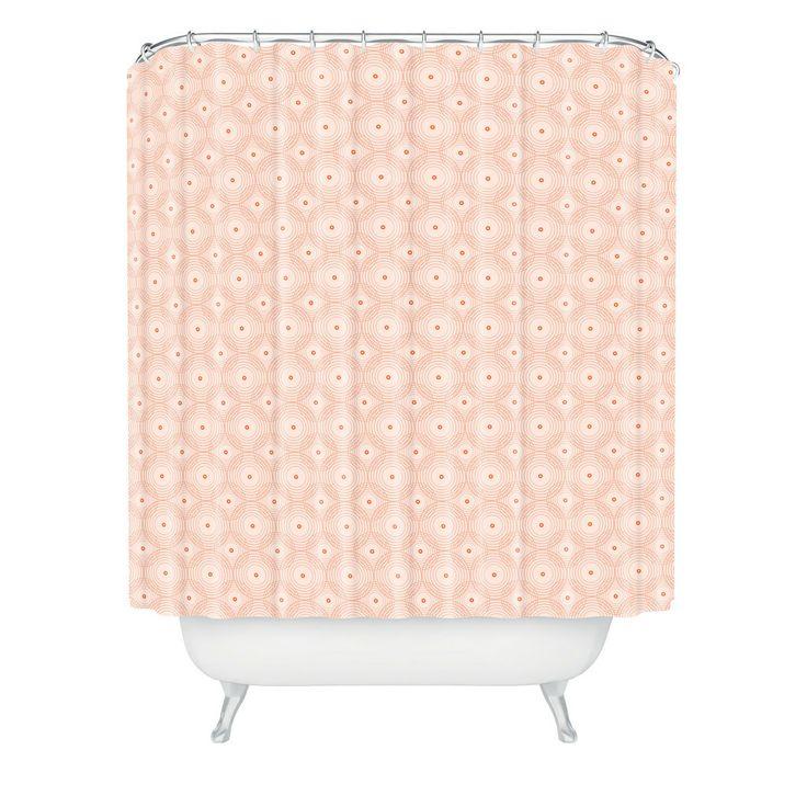 Caroline Okun Rosy Spirals Shower Curtain   DENY Designs Home Accessories