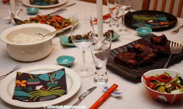 SILLÄ SIPULI: Grillikyljet kiinalaisittain ja raikas itusalaatti
