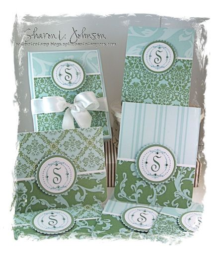 Fun Monogrammed Card Sets