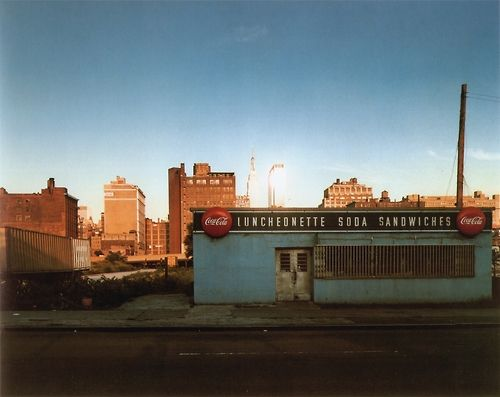 Joel Meyerowitz. Luncheonette, 12th Ave between 34th & 35th streets, New York City, 1978. From the series Empire State.