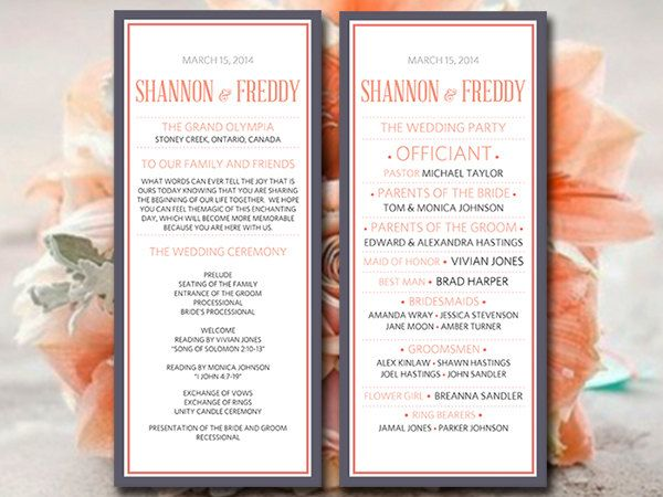 Best 25+ Wedding ceremony program template ideas on Pinterest - wedding brochure template