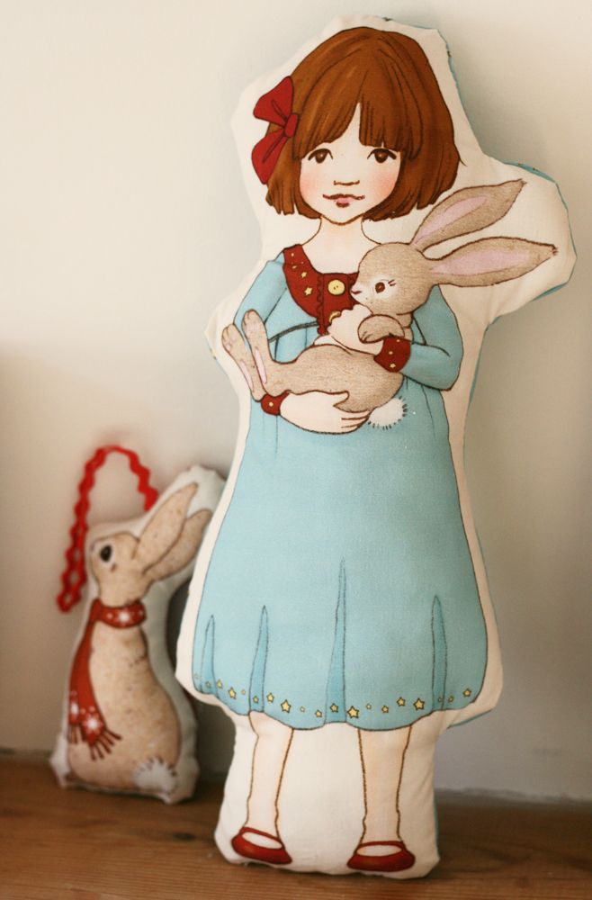 belle and boo cushion dolls