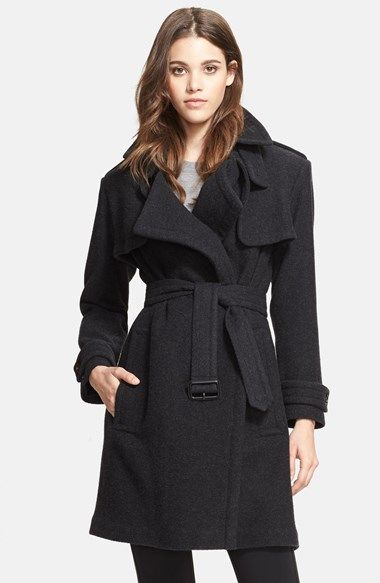 Burberry London Cashmere Wrap Trench Coat available at #Nordstrom