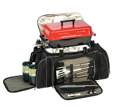 A portable, travelling grill set, you can enjoy a delicious barbequed meal anywhere you go! #ilovetoshop