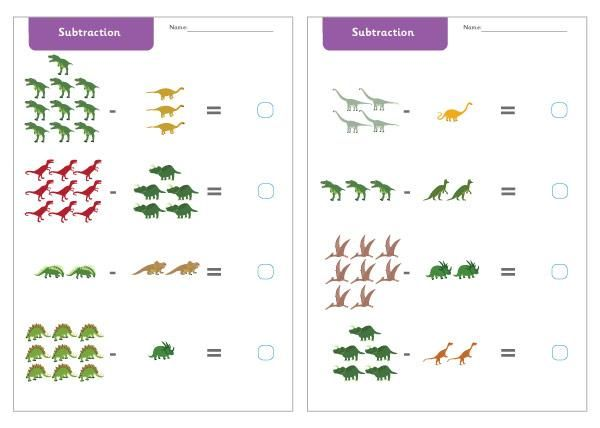 10 Maths Worksheets On Subtraction Math Worksheet Subtraction Math Worksheets