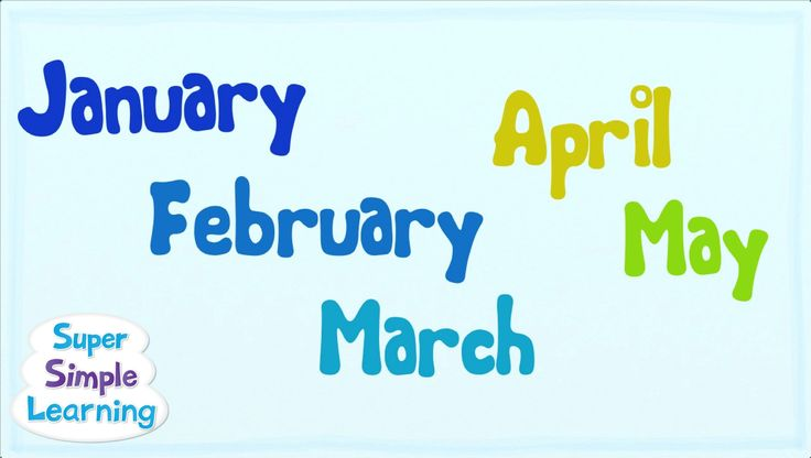 Months of the year song,  easy chant for practicing, 2:18 Super Simple Learning blog here: http://www.supersimplel...