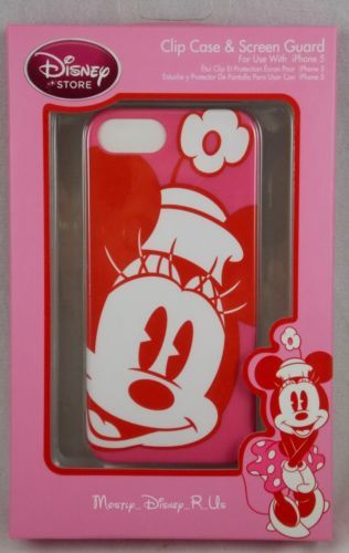 Disney Store Minnie Mouse Pink iPhone 5 Cell Phone Clip Case & Screen Guard IP5 | eBay
