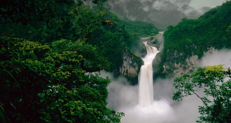 Coca Falls on Quijos River, Cayambe-Coca Reserve, Ecuador