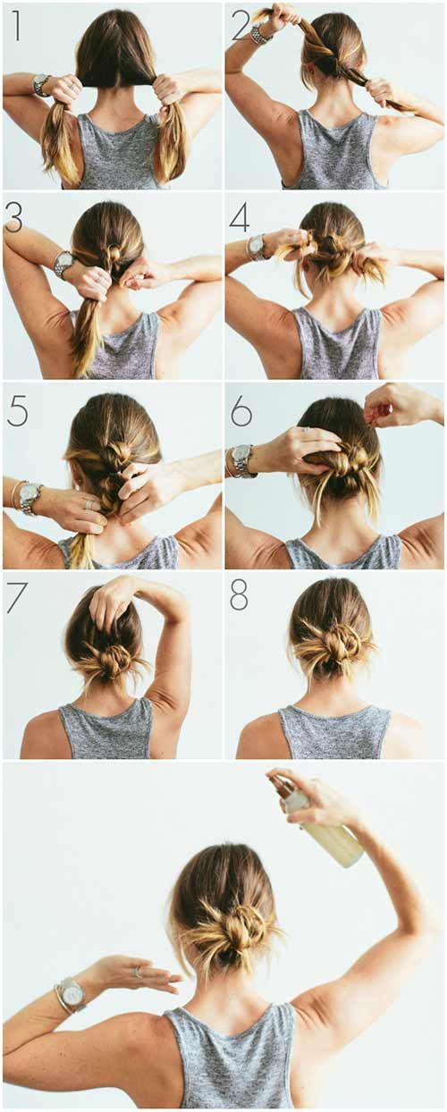 20 amazingly simple DIY messy buns, #breads #chaotic #simple # amazing