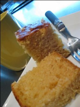 Golden Syrup and Coconut cake in the Thermomix - becs-table.com.au