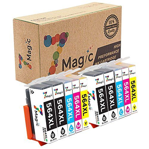 7Magic 10-Pack Compatible Ink Cartridge Replacement for 564XL 564 XL Use in Photosmart 5510 5520 6510 6520 7510 7520 7525 B8550 C6380 D5460 D7560 Officejet 4620 Deskjet 3520 (4BK, 2C, 2Y, 2M) - Model Name HP 564XL Ink Cartridge (High Yield) What You Get: 4x HP 564XL Black2x HP 564XL Cyan2x HP 564XL Magenta2x HP 564XL YellowPrinter Compatibility: HP Officejet 4620 PrinterHP Deskjet 3520, 3521, 3522 PrinterHP Photosmart Premium C309A, C310A, C410 PrinterHP Photosmart 5510, 5514, 5515, 552...