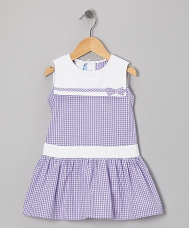 Take a look at this Purple Gingham Sailor Dress - Toddler & Girls by Mondays Child on #zulily today! $36.35