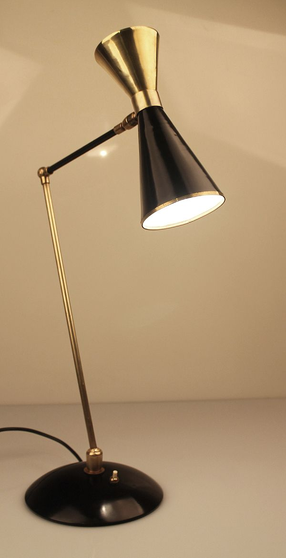 Mid Century 1950's Italian Large Stilnovo Table / Desk Lamp - 20th Century Gallery