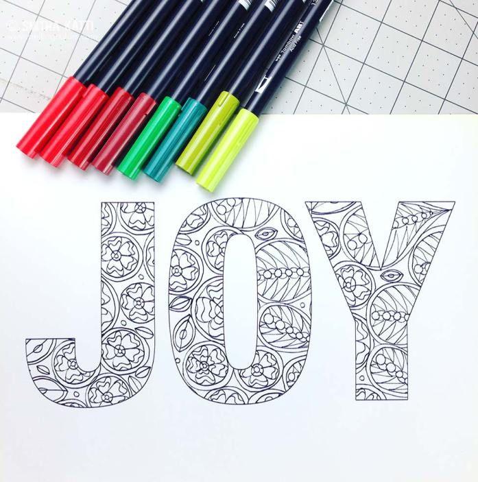Free Printable Holiday Coloring Joy